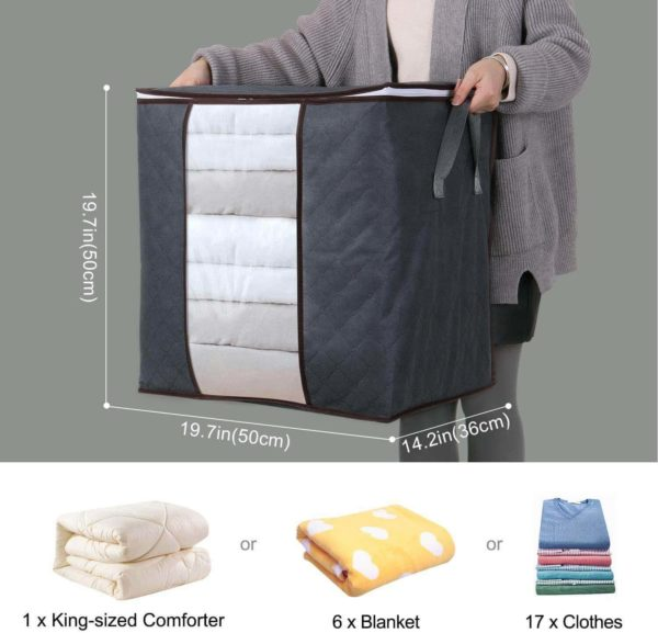 size of storage clothes storage bags cooking orbit