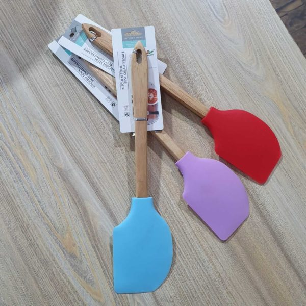 best silicone spatula with wooden handle online price in pakistan