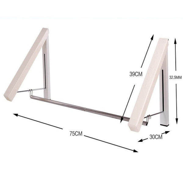 wall mounted drying rack dimensions