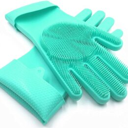 Magic Dish Washing Gloves with Scrubber