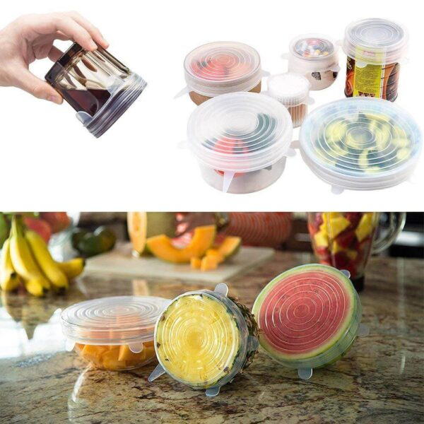 reusable and adjustable silicone food covers