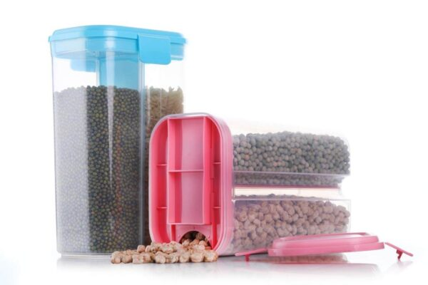 2 Partition Plastic 2.6L Air Tight Food container in pakistan