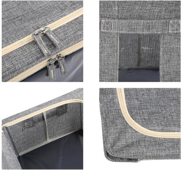 clothes storage bags with window zipper