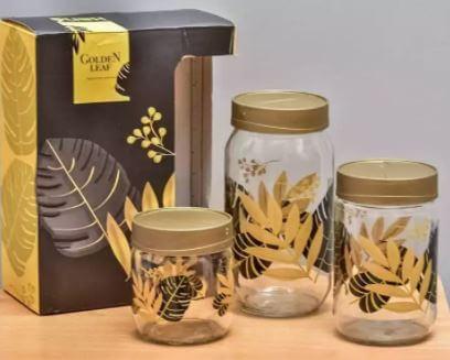 golden leaf jar set of 3 in pakistan