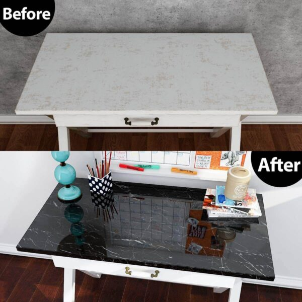 before and after of Self Adhesive Marble Stickers