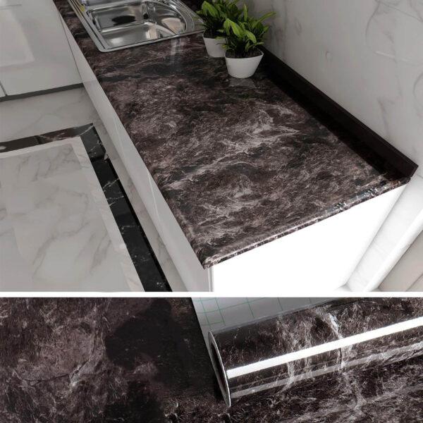 waterproof marble wallpaper for kitchen
