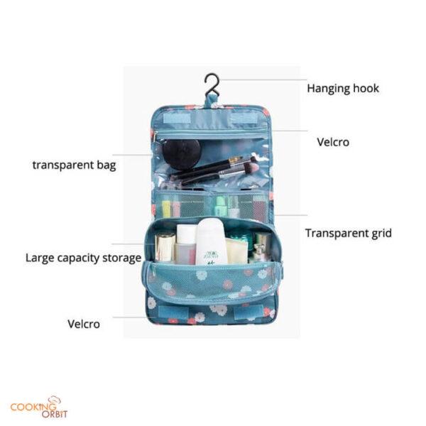 large hanging cosmetic travel bag
