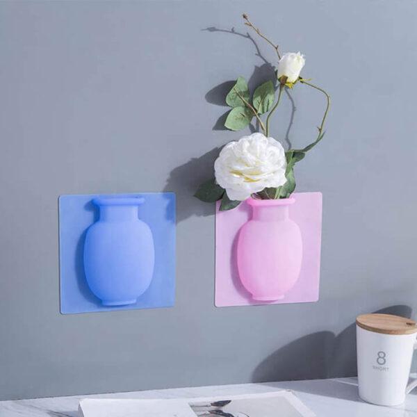 Flower Pot Silicone Sticky Vase