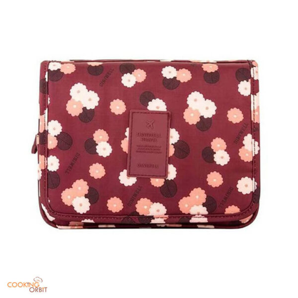 hanging travel cosmetics organizer with pockets in pakistan