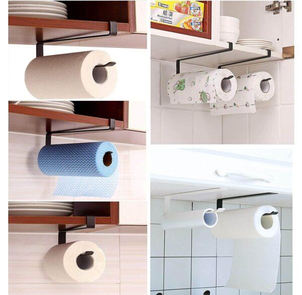 Over The Door Kitchen Roll Holder Toilet Paper Roll Holder
