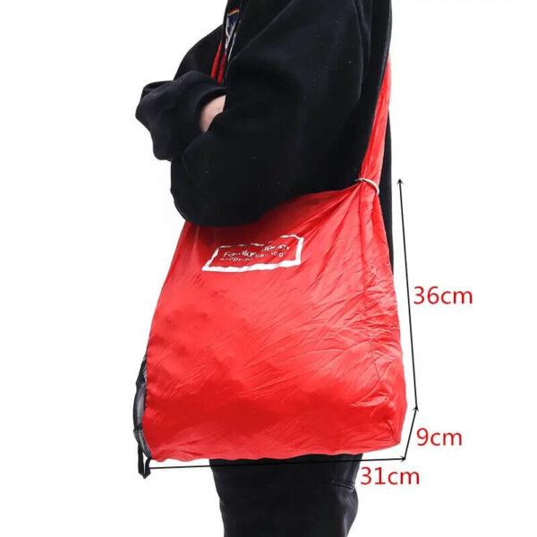 size of folding shopping bags