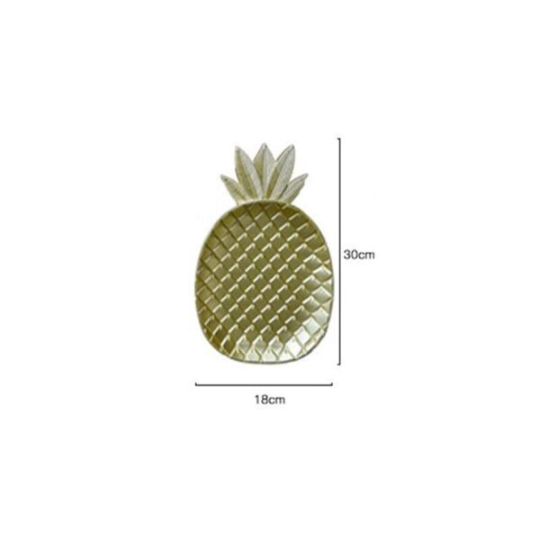 size of gold plated wooden plates pineapple in pakistan