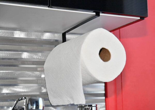 under cabinet paper towel holder no screws