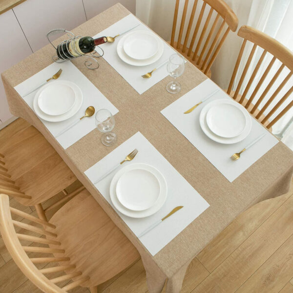 white dining table placemats in square shape