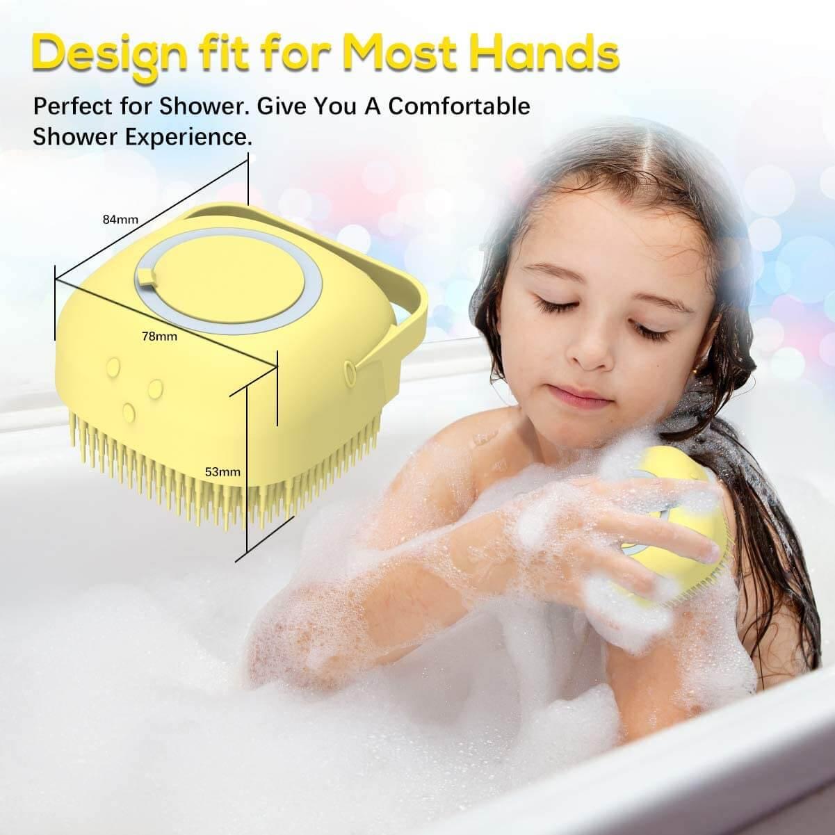 size of silicone body scrubber