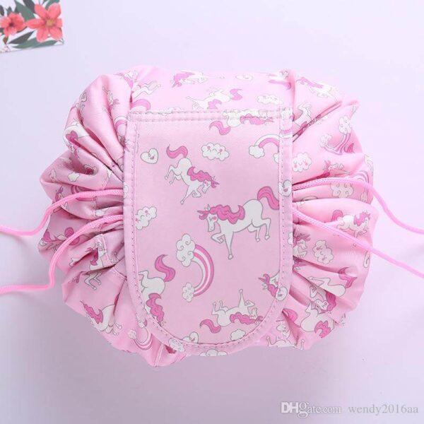 portable drawstring makeup bag