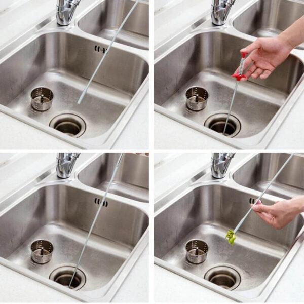 hair dredging tool for kitchen sink
