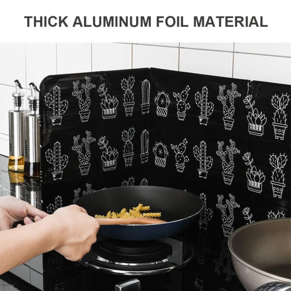 foldable kitchen gas stove shield