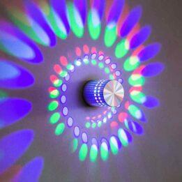 spiral hole effect wall lamp cookingorbit