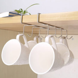 8 hooks cup rack under shelf cookingorbit pk