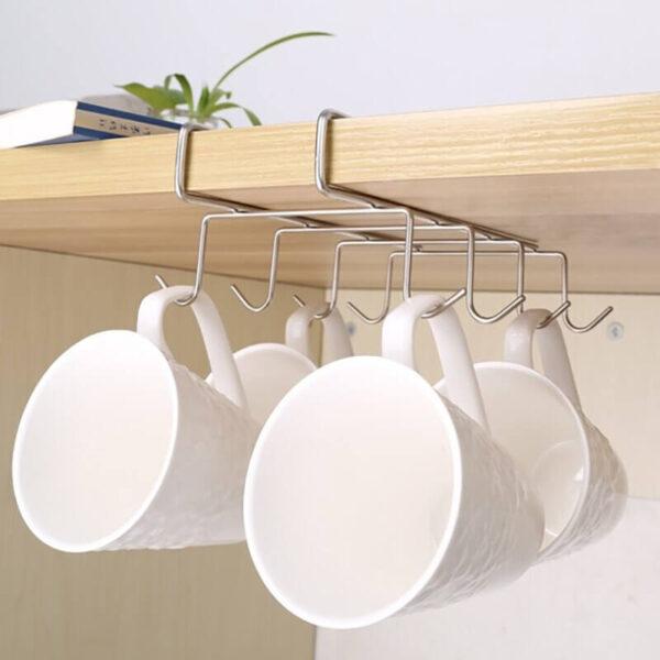 8 hooks cup rack under shelf cookingorbit pk