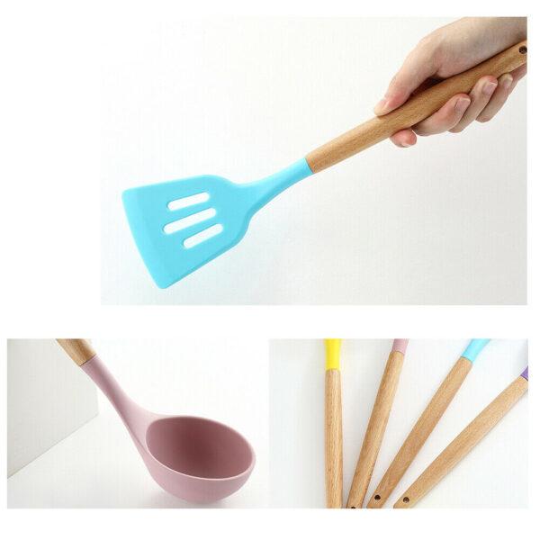 Household wooden handle Spoon CookingOrbit.pk