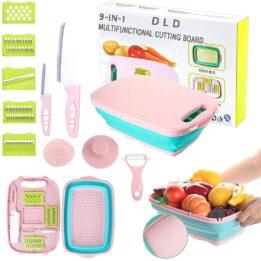 Foldable Colander Cutting Board CookingOrbit.pk