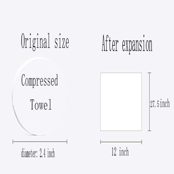 Size of Magic Compressed Travel Towel