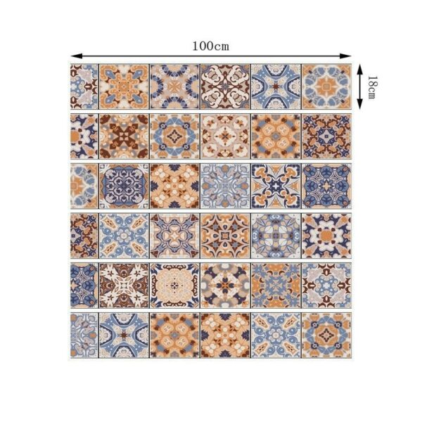 Size of Tile Stickers For DIY Wall