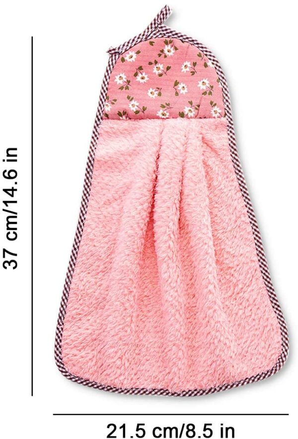 Size of Coral Velvet Hand Hanging Towel