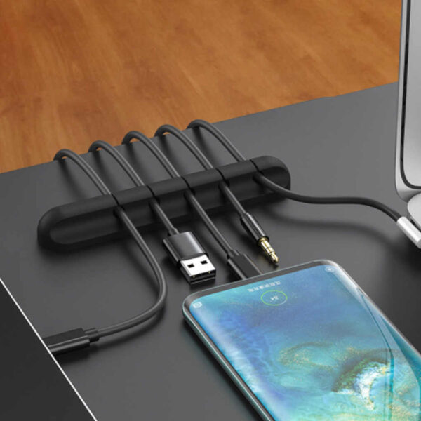 Cable Holder Clip Organizer for Mouse Keyboard Earphone Wire CookingOrbit.pk