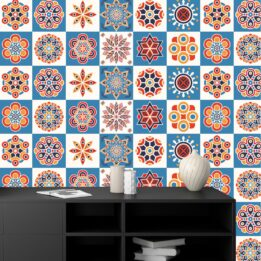 Self Adhesive Blue Textured Tile Stickers CookingOrbit.pk