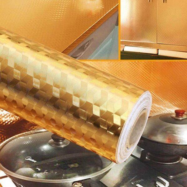 golden color foil roll for Kitchen
