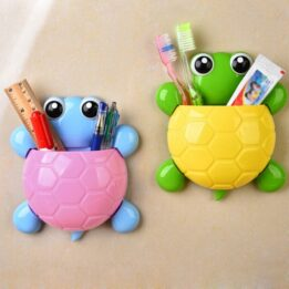 Cute Turtle Sucker Hook Toothbrush Holder CookingOrbit.pk