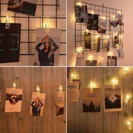 5M 20 LED Photo Clip String Lights CookingOrbit.pk