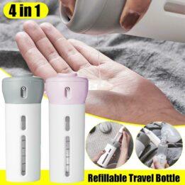 4 in 1 lotion shampoo gel travel dispenser