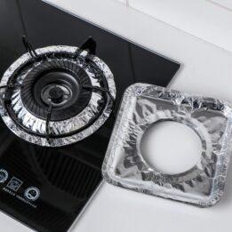 Aluminum Foil Square Gas Burner CookingOrbit.pk