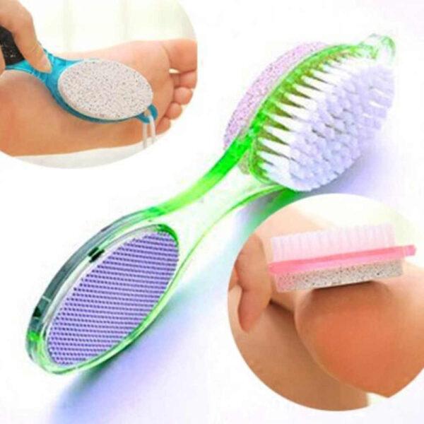 4 Step Pedicure Paddle Brush Manicure Foot Care