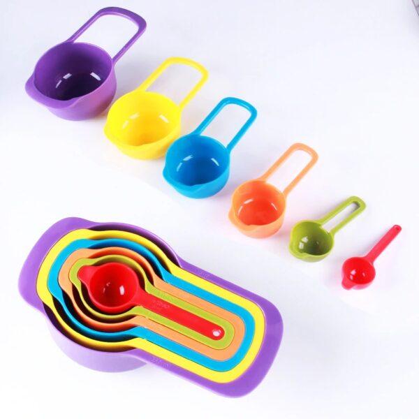 Rainbow Measuring cups and spoons set cookingorbit.pk