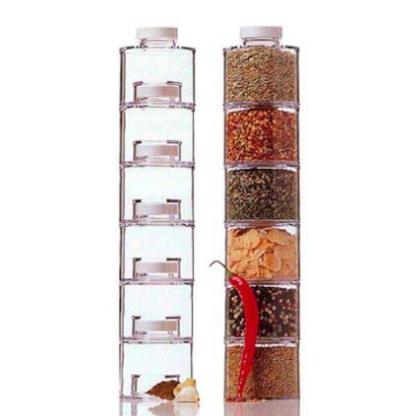 Transparent Seasoning Cans Kitchen Rack