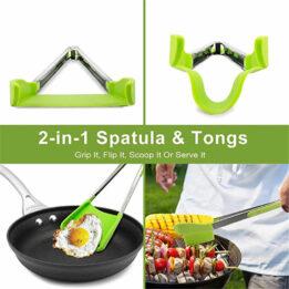 tongs 2 in 1 kitchen spatula COOKINGORBIT