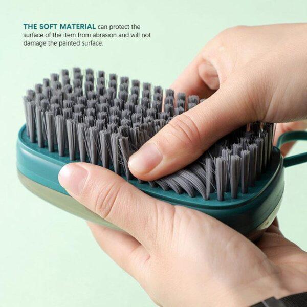 dish scrub brush with soap