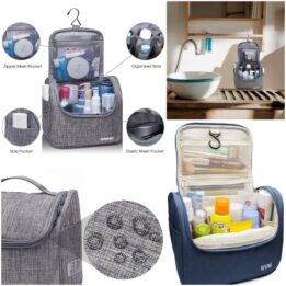 foldable toiletry bag with hanging hook cookingorbit.pk