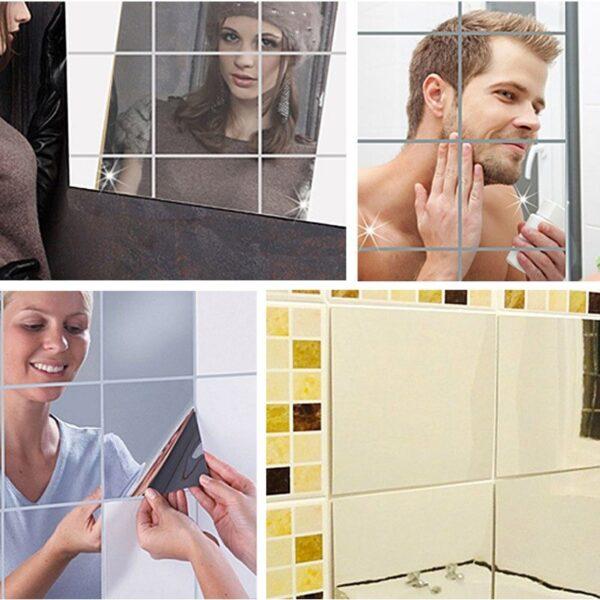 self adhesive mirror tiles stickers cookingorbit.pk