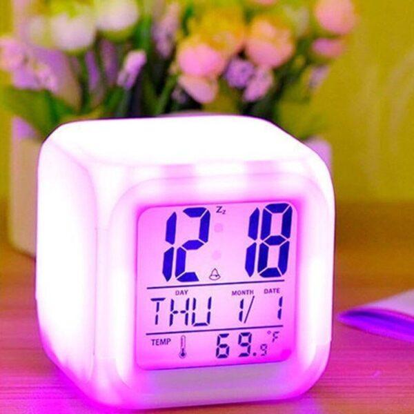7 color changing alarm clock