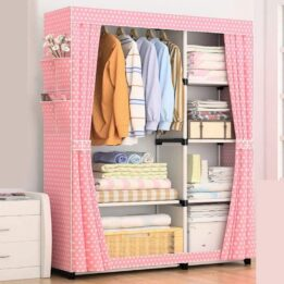 double layer clothes wardrobe