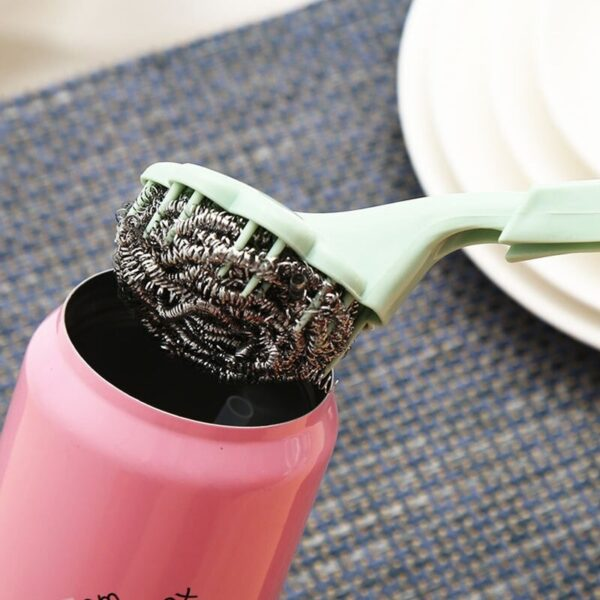 kitchen cleaning brush with handle