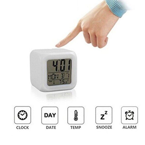 color change digital alarm clock glowing led