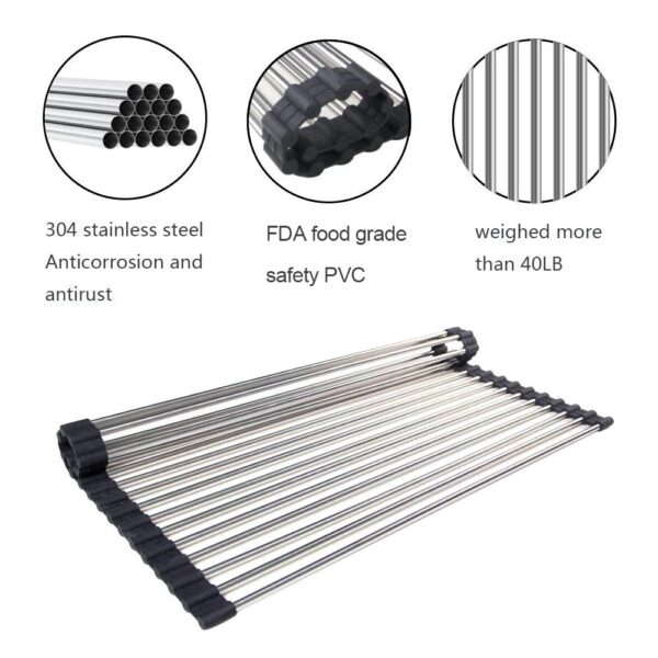 best over the sink roll up drying rack