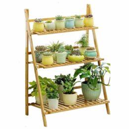 folding plant stand wood cookingorbit.pk